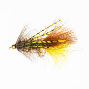B.H. Rubber Leg Wolly BuggerBrun Gul FL0057 Onlineflugor